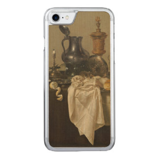 Banquet Piece with Mince Pie by Willem Claesz Heda Carved iPhone 7 Case
