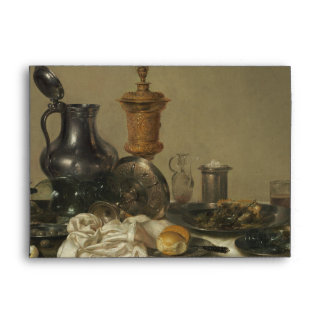 Banquet Piece with Mince Pie by Willem Claesz Heda Envelope