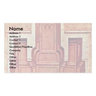 Banquet Scene By Meister Der Legende Der Heiligen Double-Sided Standard Business Cards (Pack Of 100)