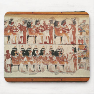 Banquet scene, from Thebes, c.1400 BC Mouse Pad