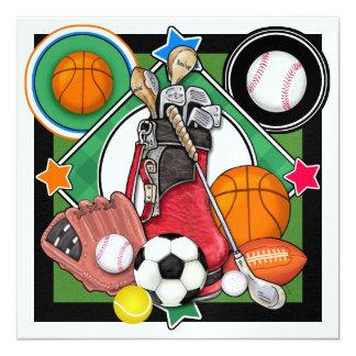 """Banquete/acontecimiento de los deportes de All Invitación 5.25"""" X 5.25"""""""