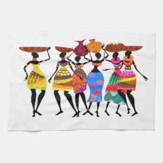 Banquete africano toalla de cocina