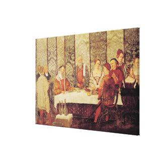 Banquete dado por Bartolomeo Colleoni Impresion De Lienzo