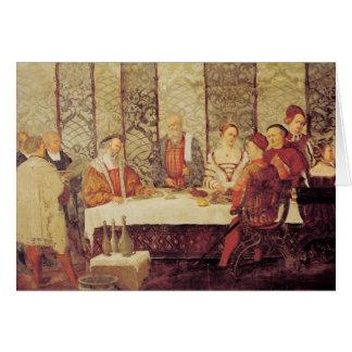 Banquete dado por Bartolomeo Colleoni Tarjetas