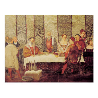 Banquete dado por Bartolomeo Colleoni Postal