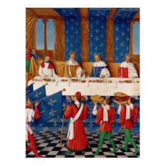 Banquete dado por Charles V Postal