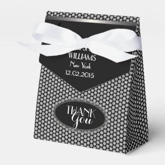 Banquete de boda blanco negro elegante del modelo caja para regalo de boda
