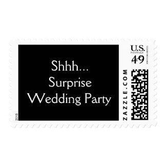 Banquete de boda de la sorpresa estampillas