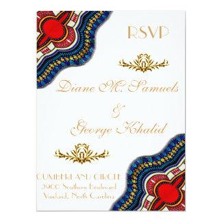 """Banquete de boda étnico del cordón de Dashiki del Invitación 6.5"""" X 8.75"""""""