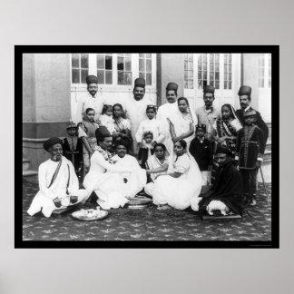 Banquete de boda la India 1898 de Parsee Póster