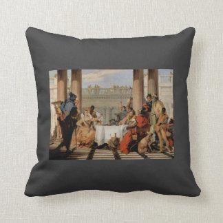 Banquete de Juan Battista Tiepolo-The de Cleopatra Almohada