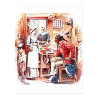 Banquete de la acción de gracias de Plymouth Tarjeta Postal