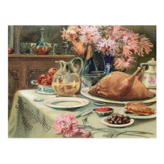 Banquete de la acción de gracias del vintage tarjetas postales