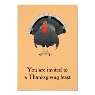 """Banquete de la acción de gracias invitación 3.5"""" x 5"""""""