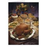 Banquete de la acción de gracias tarjeta de felicitación