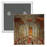 Banquete de la coronación de José II en Francfort Pin Cuadrado