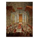 Banquete de la coronación de José II en Francfort Postal