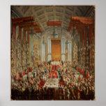 Banquete de la coronación de José II en Francfort Póster