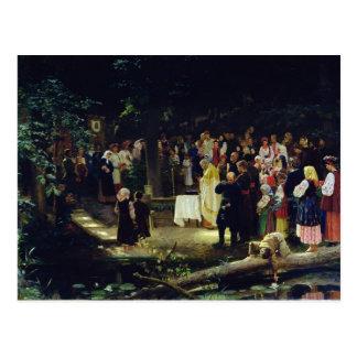 Banquete de la transfiguración de nuestro señor tarjeta postal