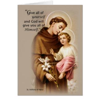 Banquete de las bendiciones de St Anthony Tarjeta De Felicitación