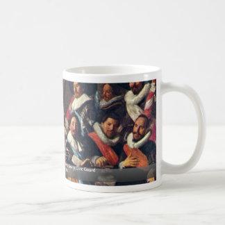 Banquete de los oficiales tazas de café