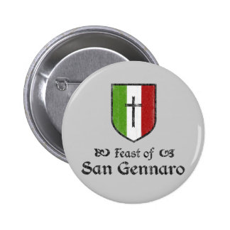 Banquete del botón del festival de San Gennaro Pin Redondo De 2 Pulgadas