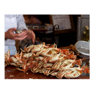 Banquete del cangrejo azul postal