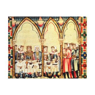 Banquete del compromiso, del manuscrito impresiones en lona