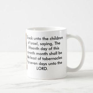Banquete del verso de la biblia de los tabernáculo taza básica blanca