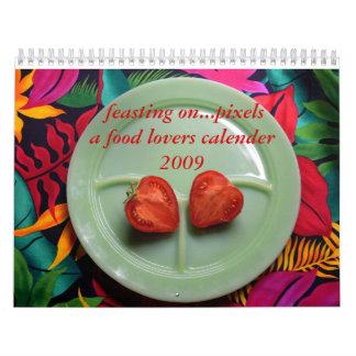 banquete… en calendario de los pixeles 2009