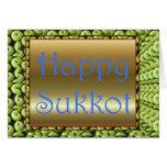Banquete judío de Sukkot del banquete de Tarjeta De Felicitación