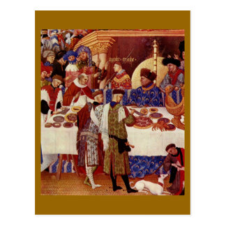 Banquete medieval tarjetas postales