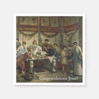 Banquete romano antiguo del fiesta de cena servilletas de papel