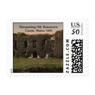 Banqueting Hill, Beaumaris Castle, Wales 1905 Postage