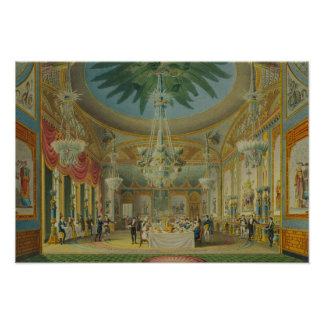 Banqueting Room, from 'Views of Royal Pavilion Poster