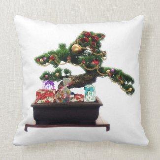 Bansai Christmas Tree Throw Pillow