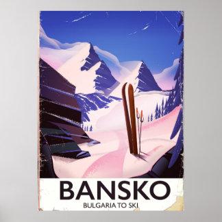 Bansko Bulgaria To Ski Poster