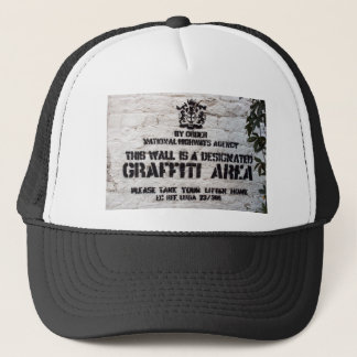 Bansky Designated Graffiti Area Trucker Hat