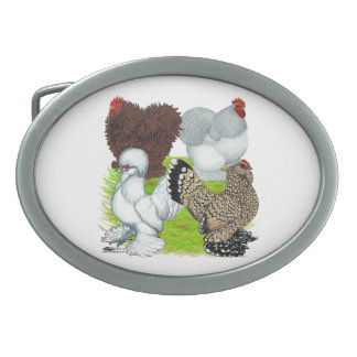 Bantams Feather Legged Oval Belt Buckle