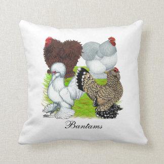Bantams Feather Legged Throw Pillow