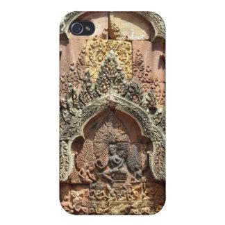 Banteay Srei Temple Chandi Carvings 1 iPhone 4/4S Case
