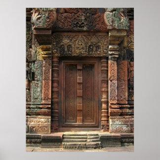 Banteay Srei Temple Chandi False Door 2 Poster