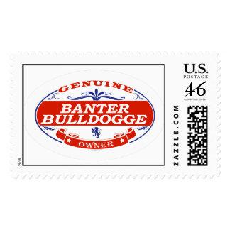 Banter Bulldogge Postage Stamps