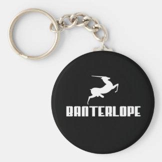 Banterlope Basic Round Button Keychain