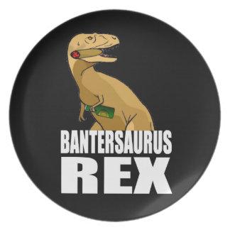Bantersaurus Rex Banter Merchant Gift Dinner Plates