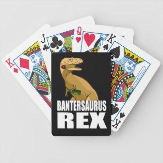 Bantersaurus Rex Banter Merchant Gift Bicycle Poker Cards
