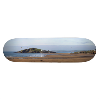 Bantham Beach and Burgh Island Skate Board Deck