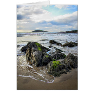 Bantham Rocks to Burgh Island blank notelet / card