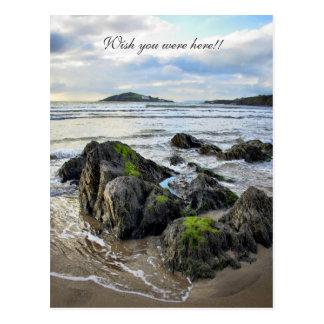 Bantham Rocks to Burgh Island Postcard