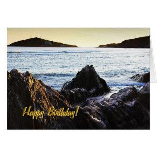 Bantham View to Burgh Island birthday card